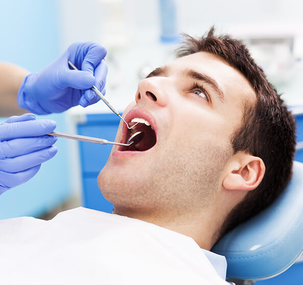 man recieving dental work